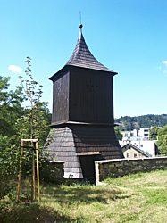 Zvonice v Železném Brodě (stav před požárem v roce 2007)